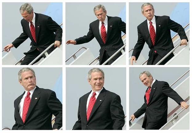 George Bush Escada Rolante