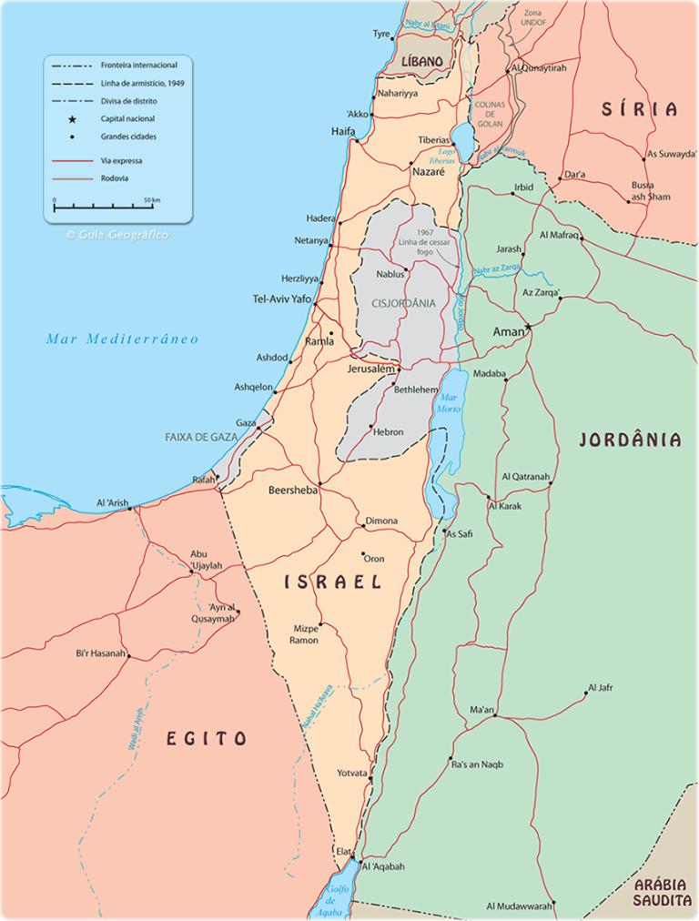 Mapa Oriente Médio